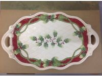 Brand New in Box - Forever Christmas Platter by Demdaco