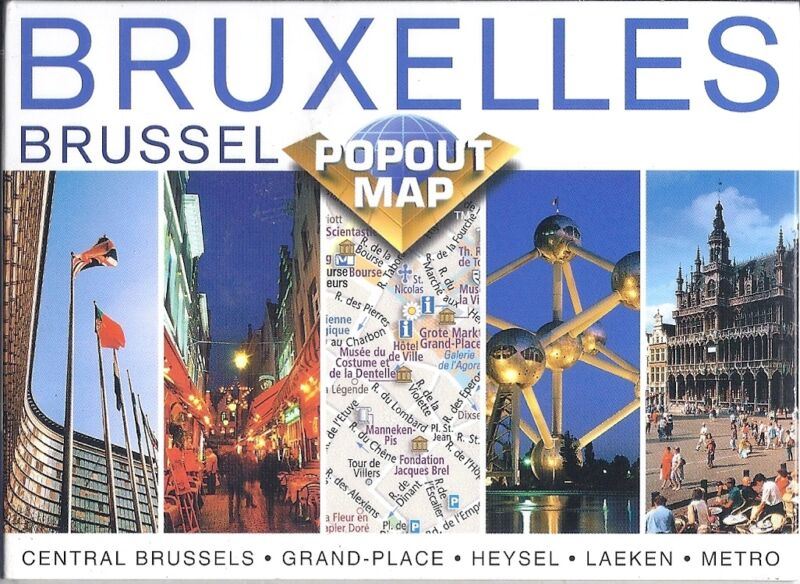 PopOut Map of Brussels, Belgium
