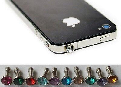 Anti Staub Stecker iPhone iPad Samsung Handy Schmuck Staubschutz Stöpsel Strass (Iphone Schmuck)