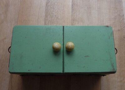 Nähkästchen DDR Ostalgie Antik Holz Nähkorb Nähbox Schmuckkästchen mintgrün