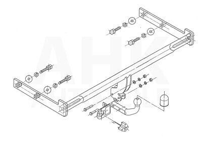 Für Ford Focus I 35-Tür Fließheck Anhängerkupplung starrES 7p ABE
