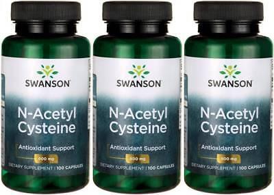300 Caps Swanson NAC N-Acetyl Cysteine 600 mg Liver Health
