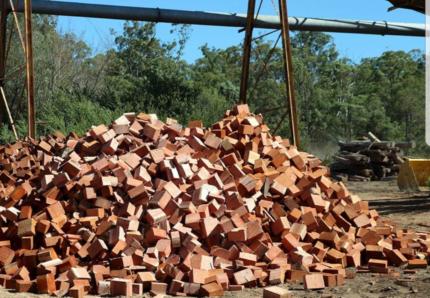 Jarrah fire wood mill ends, bags, trailers, truck loads
