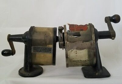 Vintage Pencil Sharpener Lot Of 2 Boston And Premier Vintage School Supplies