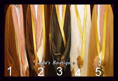 BROWN BISHT CLOAK ARAB DRESS THOBE SAUDI MENS ROBE - Arabian Dress Men