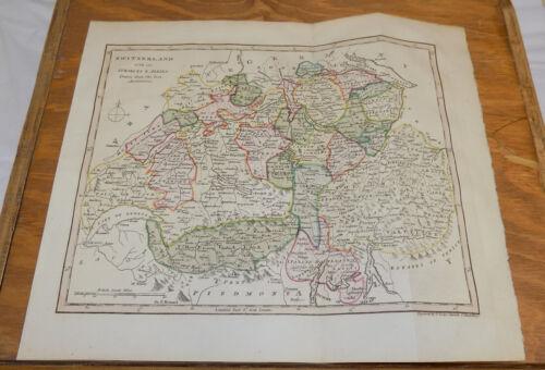 1817 Antique COLOR Map///SWITZERLAND