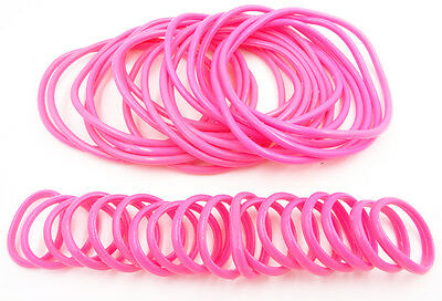 New High Quality 36 Piece Pink Jelly Bracelets & Rings Set #B2010Pink