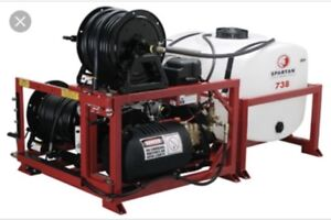 Spartan high pressure sewer Jetter and trailer