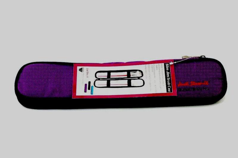 *NEW Weber JUST STOW IT Slim Jim Brush Case RARE Artist Purple Color 66-JS1014B