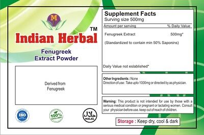Fenugreek Extract 50% Saponins Pure & High Quality