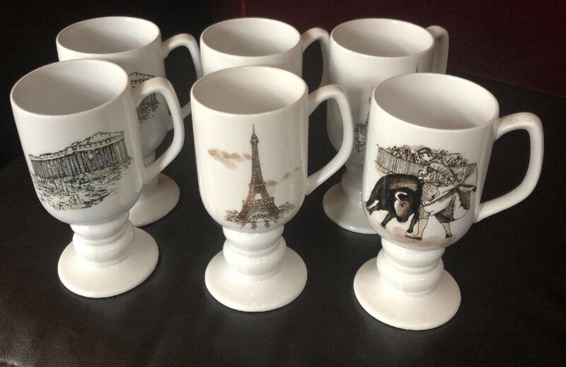 Lot Of 6 Kaysons Fine Ironstone China 1065 Continental Travel Mugs