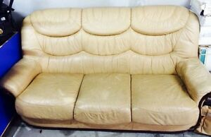 Leather Lounge Set Earlwood Canterbury Area Preview