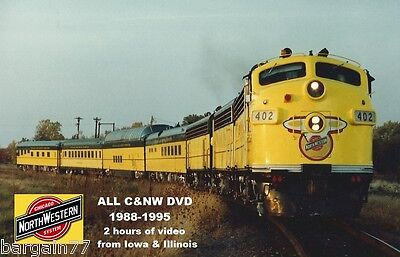 ALL C&NW DVD 1988-1995 2 hours of Chicago & North Western Video- Illinois & Iowa