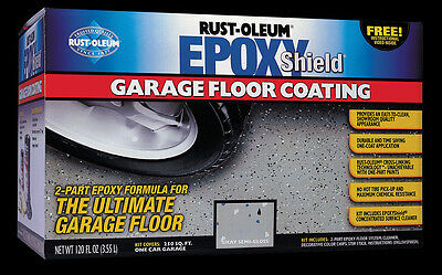 EPOXY SHIELD Garagenboden Beschichtung, Grau Semi-Gloss Rust Oleum Epoxid - Rust Oleum Semi Gloss