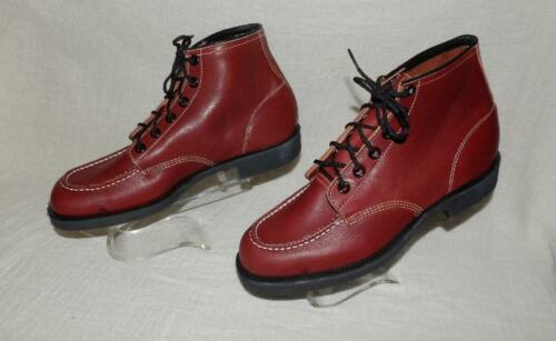 """VTG MENS """"WEINBRENNER THOROGOOD"""" LEATHER  WORK BOOTS SHOES 50s 60s NOS 10 1/2 W"""