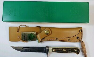 Vintage Puma 6382 Trail Guide Stag Knife with Sheath Germany