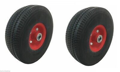 2 x Central Red Centre Trolley Sack Truck Wheel Puncture Proof 4.10/3.50 - 4