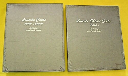 LINCOLN CENTS 2 DANSCO ALBUMS SET #8100 & #8104 W/PROOF 1909-2020 UP