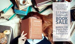 $1 Super Sidewalk Book Sale - Oxfam Second Hand Bookshop Adelaide Adelaide CBD Adelaide City Preview