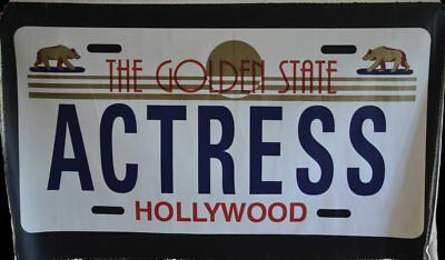 "- Steve Kaufman, Original ""Actress"" Vanity Plate.  Hand signed SAK by Kaufman."