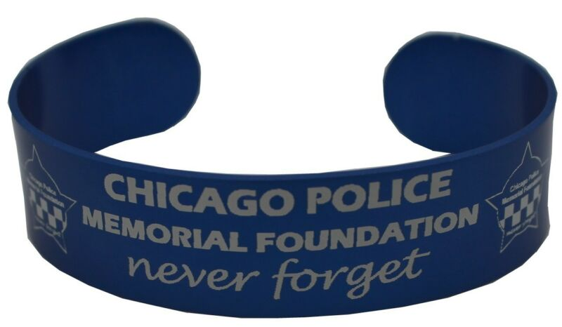 Chicago Police Memorial Aluminum Laser Engraved Wristband