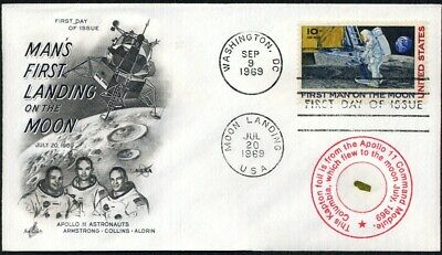 Flown Apollo 11 Kapton Foil on a Beautiful First Man on the Moon First Day Cover