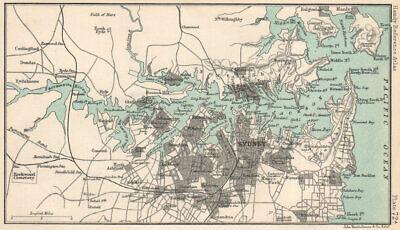 Sydney vintage sketch map. Port Jackson. New South Wales. BARTHOLOMEW 1904