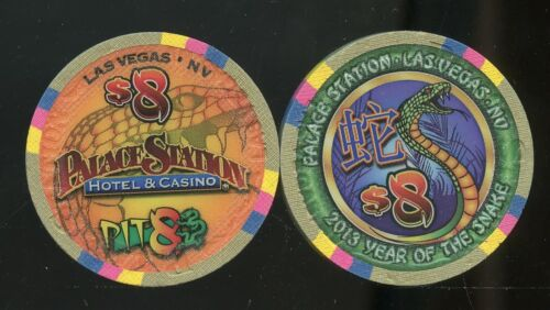 $8 PALACE STATION CHINESE NEW YEAR OF THE SNAKE UNC LAS VEGAS CASINO CHIP