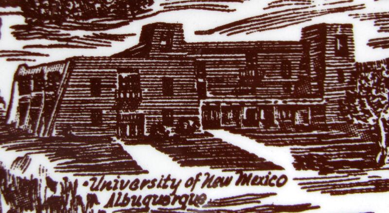 NEW MEXICO Vintage Sepia Ultra Vernon Kilns California Pottery Collectors Plate