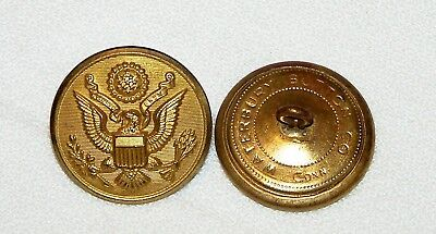 WWII US Great Seal overcoat buttons Waterbury 1 1/8in 8mm 45L Lot of 10pcs B4135