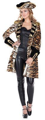 Tiger Mantel mit Tigermuster 80er Kostüm für Damen