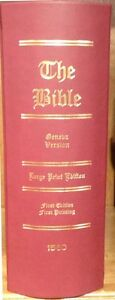 1560 Geneva Bible, 1st Edition Perfect Facsimile Reproduction