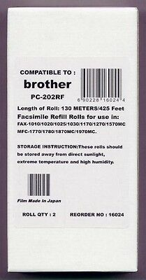 - 2-pack Fax Film Refill Rolls for your Brother 1020 1020E 1020-PLUS Fax Cartridge