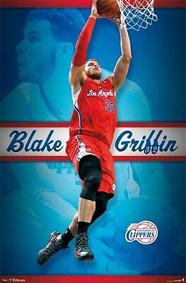 Blake Griffin Poster Fly 22x34 Los Angeles Clippers Nba Basketball 6005