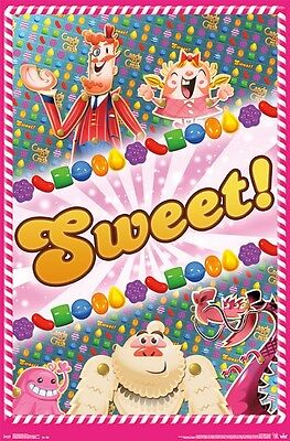 Candy Crush Saga Poster ~ Sweet 22x34 Videospiel King Facebook ()