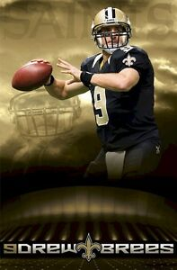 DREW BREES POSTER ~ SUPERDOME 22x34 New Orleans Saints NFL National Football 150