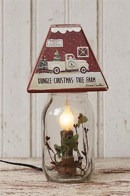 NEW CHRISTMAS TREE FARM ELECTRIC JAR LIGHT Candle Lamp Country Berry Truck ()