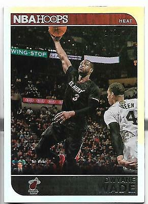 - 2014 NBA Hoops REFRACTOR Dwayne Wade card, Miami Heat, #/399