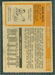 Bobby Orr 1973 #129 OPeeChee in good condition. Gr.7 aprx Windsor Region Ontario image 2