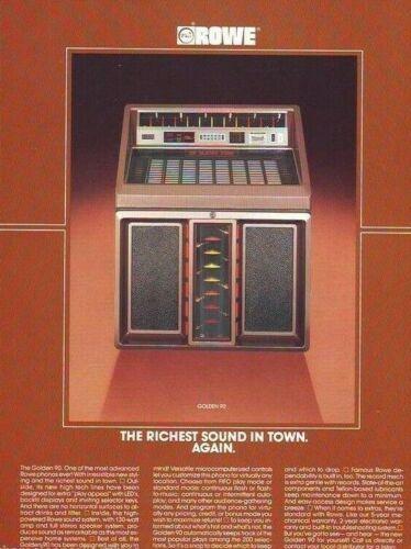 Rowe Golden 90 Jukebox FLYER Original R-90 1986 NOS Phonograph Music Artwork