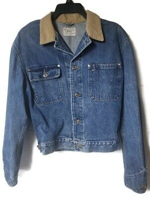 VTG Polo Ralph Lauren Denim Blue Jean Jacket Authentic Dungarees USA  Medium