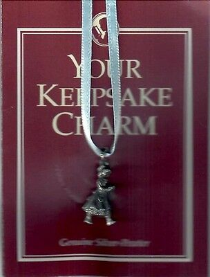 PLEASANT COMPANY RETIRED PEWTER KIRSTEN CHARM! 1994! AMERICAN GIRL~VINTAGE~DOLL