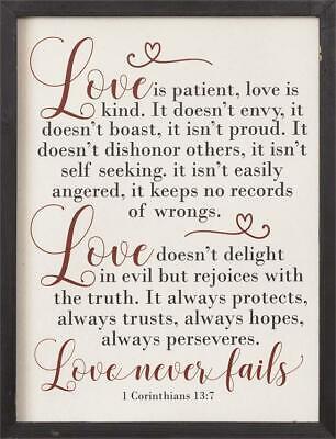 New LOVE IS PATIENT KIND NOT PROUD 1 Corinthians 13 Rustic Wood Sign - Love Is Kind Love Is Patient