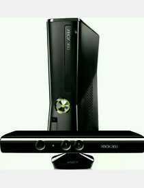 Xbox 360 250 GB with Kinect and 3 Games in excellent condition