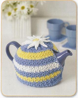 Crochet Pattern ~ Daisy Motif Tea Cozy Teapot ~ Instructions