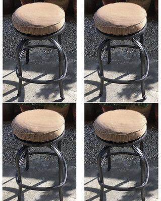 Patio Swivel Bar Stool Short With Cushion set of 4 Outdoor cast aluminum -