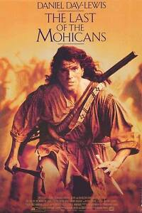 Movie poster behind glass HUGE LAST OF THE MOHICANS