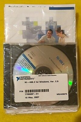 Ni National Instruments For Windows Ver 2.5 Model Ni-488.2 Software Only