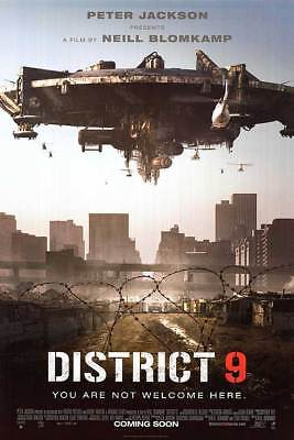 District 9 Intl  Coming Soon  2Sided Orig Movie Poster