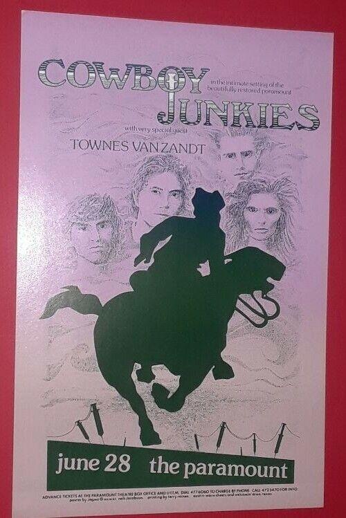Cowboy Junkies Townes Van Zandt Paramount Concert Poster Timmins